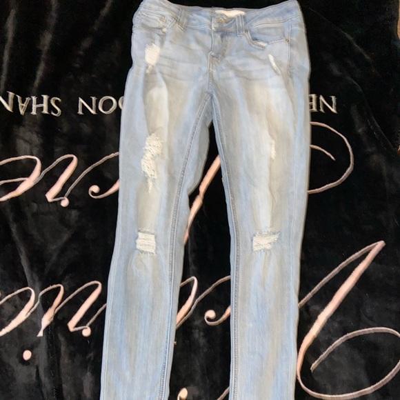 RSQ Denim - Frayed Light Blue Jeans